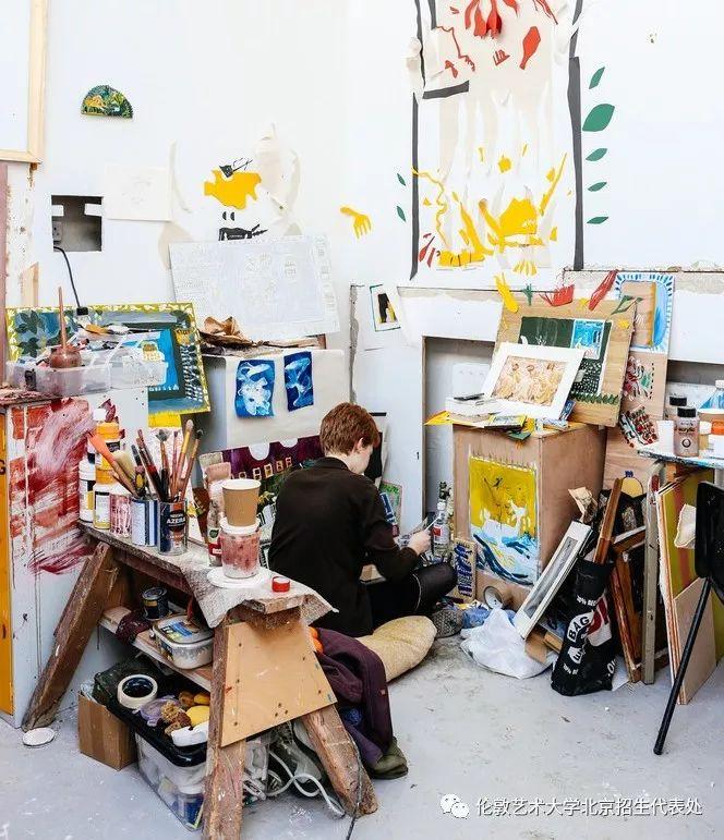 伦敦艺术大学画室